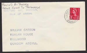 GB SCOTLAND ISLE OF ARRAN. 1969 cover WHITING BAY / BRODICK cds............67806