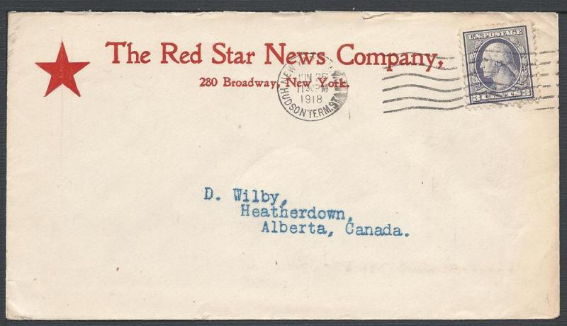 Scott #529, The Red Star News Co, Books, Periodicals, New...