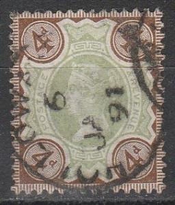 Great Britain #116  F-VF Used CV $15.00 (S3543)