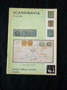 STANLEY GIBBONS AUCTION CATALOGUE 1968 SCANDINAVIA with COVERS BY QUEEN LOISE