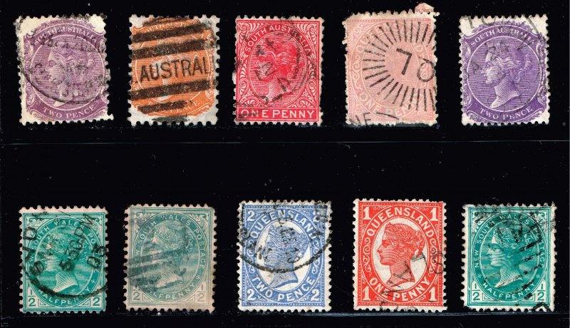 AUSTRALIA USED STAMPS COLLECTION LOT