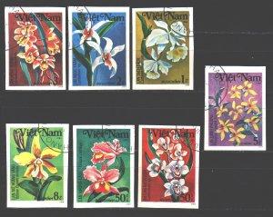 Vietnam. 1984. 1425U-31U. flowers flora. USED.