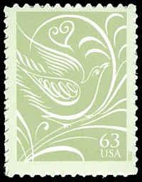 PCBstamps    US #3999 63c Dove facing right, 2006, MNH, (4)