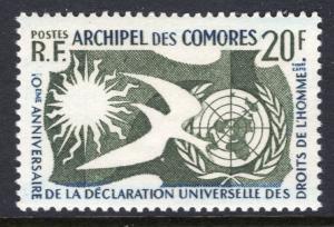 Comoro Islands 44 Human Rights MNH VF