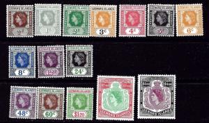 Leeward Is 133-47 MNH 1953-57 QEII Definitive Set