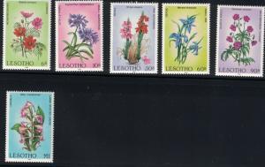 Lesotho SC496-501 Wild Flowers MNH 1985