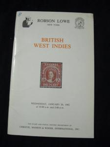 ROBSON LOWE AUCTION CATALOGUE 1982 BRITISH WEST INDIES