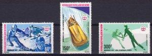 Benin 1976 Sc#C244/C246 INNSBRUCK OLYMPICS Set (3) MNH