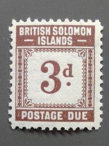Solomon Islands J3 F-VF MLH.  Scott $ 4.75