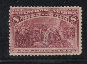 US Stamp Scott #236 Mint Hinged SCV $47.50