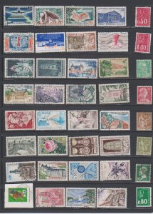 LOT OF DIFFERENT STAMPS OF FRANCE  USED (40) LOT#372