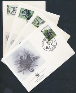 Honduras stamp WWF: Geoffroys spider monkey set on 4 FDC 1990  WS177734