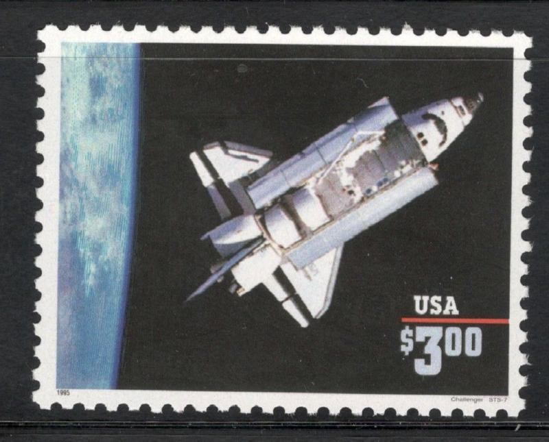 2544 Space Shuttle Challenger (1995) US Postage Single Mint/nh Free shipping