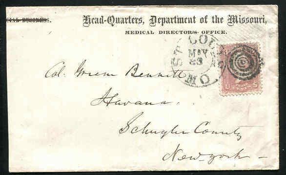 Head Quarters Dept of the Missouri Medical Directors Office ~ St. Louis MO #65