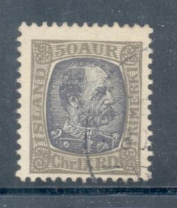 Iceland Sc 43 1902 50 aur Christian IX stamp used