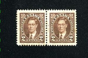 Can #232   pair used VF 1937 PD