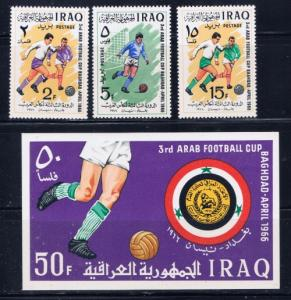 Iraq 403-06 Lightly Hinged 1966 Soccer set