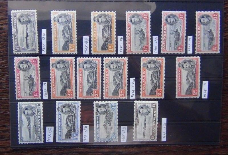 Ascension 1938 - 53 to 1s with Perforation Sorten mm