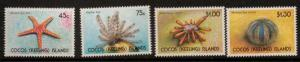COCOS (KEELING) ISLANDS SG240/3 1991 STARFISH MNH