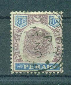 Malaya - Perak sc# 52 used cat value $.80