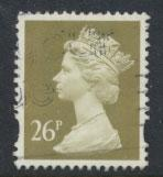 GB QE II Machin - SG Y1692   Used 26p  Gold