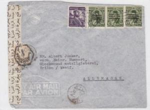 [SOLD] egypt censor multi  stamps cover ref r16002