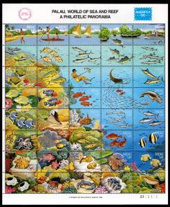 Palau 103 Marine Life Souvenir Sheet MNH VF