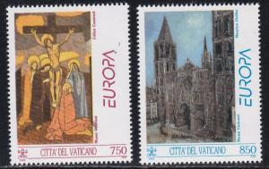 Vatican # 932-933, Europa '93, Contemporary Art, NH, 1/2 Cat
