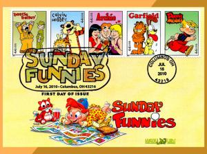 Sunday Funnies • Bennett Cachet on Dragon Cards FDC • Comics with Breakfast!