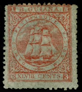 BRITISH GUIANA SG82, 48c Pale Red Perf 12½-13, M MINT. Cat £375.