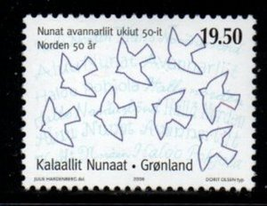 Greenland Sc 470 2006 Nordic Union stamp mint NH