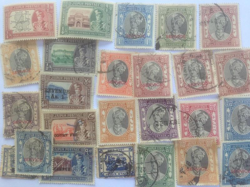50 Different Indian States Stamp Collection - Jaipur
