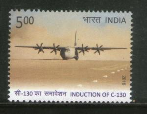 India 2016 Induction of C-130 Aviation Aircraft Indian Air Force 1v MNH