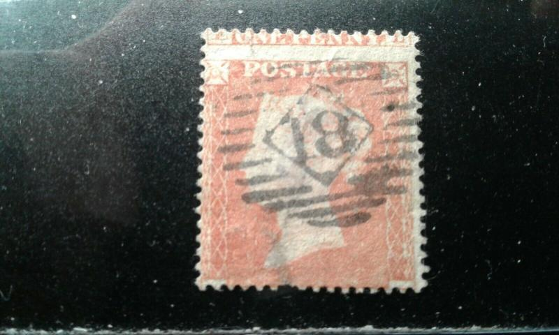 Great Britain #8 used thin short perfs e194.4039