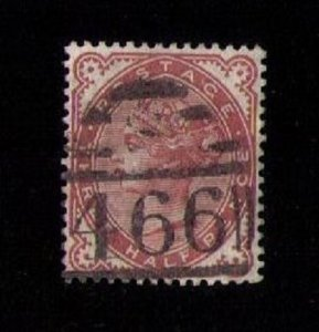 SG 167 Great Britain Dark Venetian Red Used Very Fine