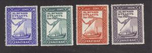 Zanzibar 218-21, F-VF, MH