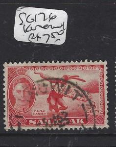 SARAWAK (P2708B)  KGVI 8C DANCER  SG 176  KANOWIT   CDS VFU