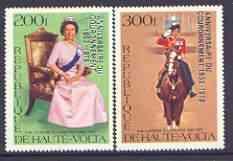 Upper Volta 1978 25th Anniversary of Coronation opt\'d on...
