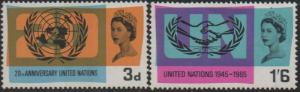 Great Britain  1965 20th Anniversary of UN and ICY MNH