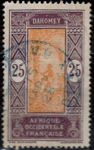 Dahomey 1922: Sc. # 55; O/Used Single Stamp