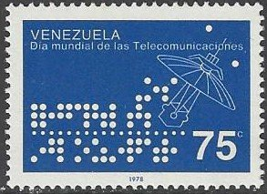 Venezuela 1184  MNH Telecommunications Day 1978
