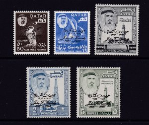 Qatar the 1964 Kennedy set MNH