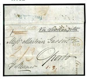GB REGISTERED BRITISH PACKET MAIL *Fenchurch St* London 1850 R162
