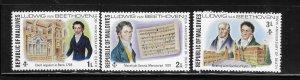 Maldives islands 1977 Ludwig van Beethoven composer Sc 669-671 MNH A1716