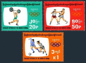 Burma 277-279,MNH.Michel 278-280. Olympics Moscow-1980.Soccer,Boxing,Weight