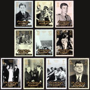 Fujeira MNH 28-27 John F. Kennedy Complete Set 1965