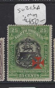 NORTH BORNEO (P2107B) RED CROSS CARMINE CROSS 25C   SG 213A      MOG
