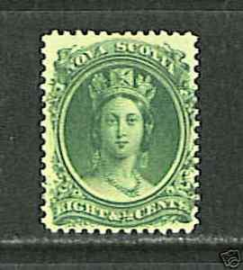 Nova Scotia #11 VF MNH - 1860 8 1/2c Queen Victoria