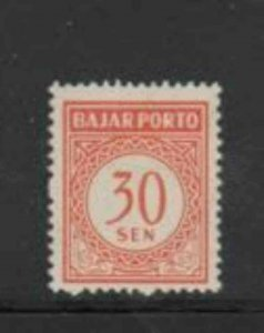 INDONESIA #J76 1958 30s POSTAGE DUE MINT VF LH O.G a