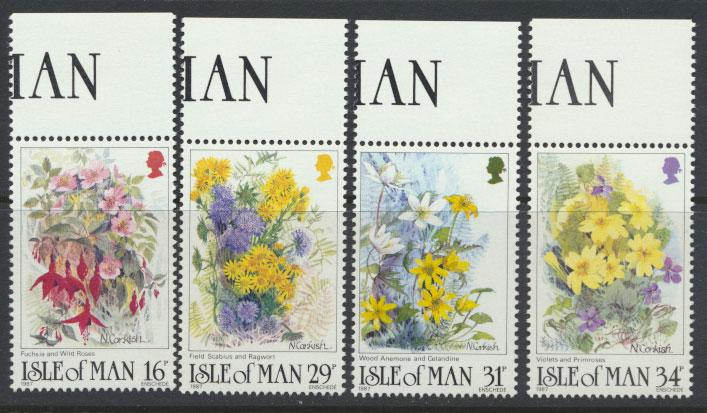 Isle of Man - SG 354-357  SC# 340-343  MUH Flowers
